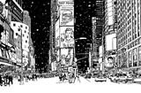 Times Square pod śniegiem - 195221125