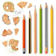 Sharpened Wooden Pencils And S...