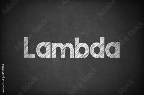 Lambda on Textured Blackboard. Poster