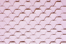 Pastel Pink Hexagon Tiled Background
