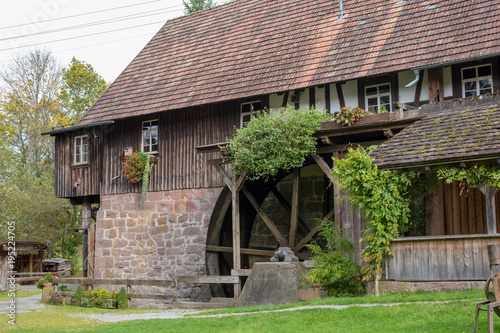 Photo  watermill, sawmill in the forrest