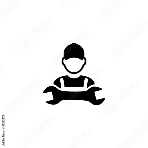 Mechanic vector icon. Simple flat symbol on white background