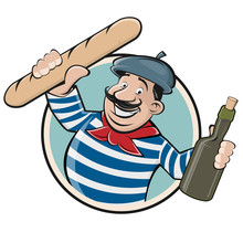 Funny Clipart Of A French Man ...