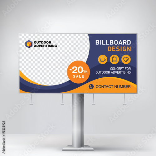 Billboard design, template for outdoor advertising, posting photos ...