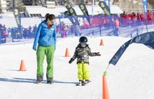 Ski Instructor Teaching A 3-Ye...