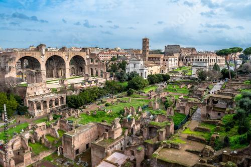 Zdjęcie XXL Forum Romanum w Rzymie we Włoszech