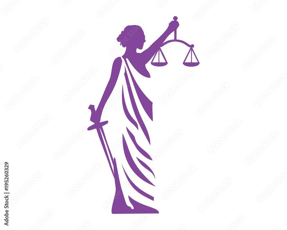 Fototapeta Lady justice logo vector