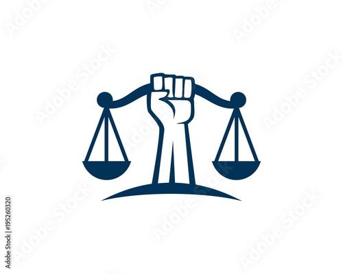 Valokuvatapetti Revolution justice logo
