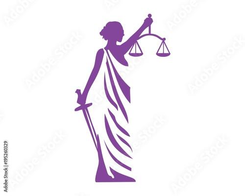 Lady justice logo vector Canvas-taulu