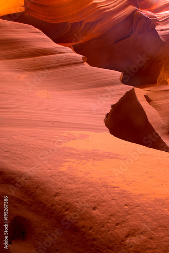 An abstract image in red sand stone