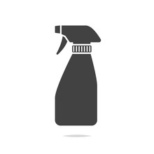 Spray Bottle Icon Vector Isolated