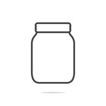 Jar Line Icon Vector