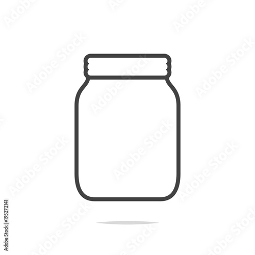 Jar line icon vector Fototapeta