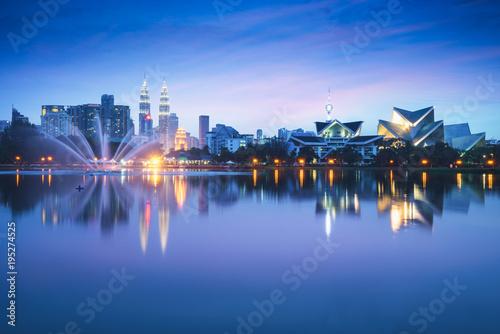 Photo Stands Kuala lumpur skyline