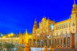 canvas print picture - Spain Square (Plaza de Espana)is a square in the Maria Luisa Par