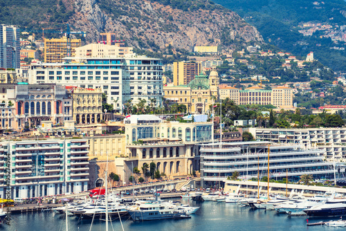 City on the water Monte Carlo district of Monaco is vit for apartments and yachts