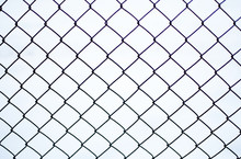 Rusty Chain Link Fence Of Stee...