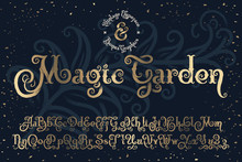 "Beautyfull Decorative Font Named ""Magic Garden"" With Nice Textured Noise Effect."