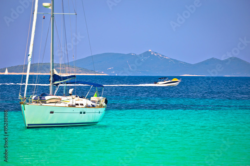 Door stickers Green coral Dugi Otok island Pahthera bay sailing and yachting destinaion