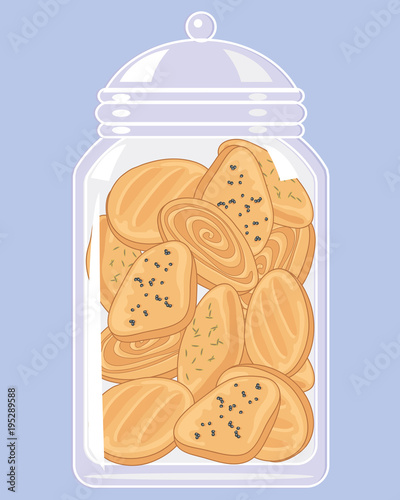 jar of indian biscuits Fototapeta