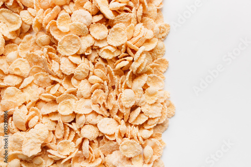 Pile Of Delicious Crispy Cornflakes Food Background Healthy