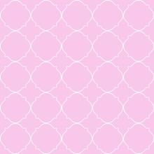 Pink Qua-trefoil Pattern, Text...