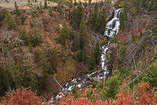 Undine Falls In Yellowstone National Park In Wyoming In The USA