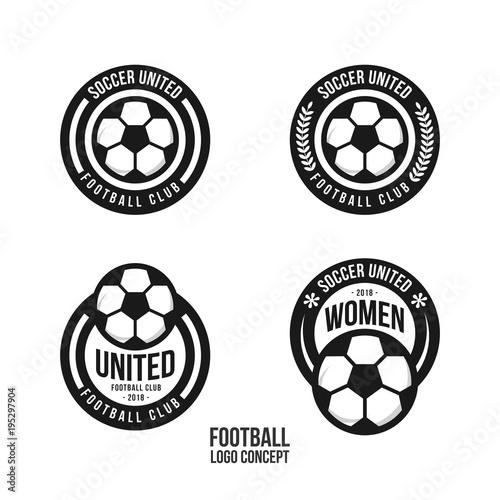 Football club logo set vector template design buy this stock football club logo set vector template design maxwellsz