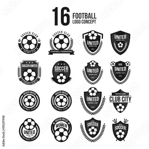 football club logo set vector template design buy this stock