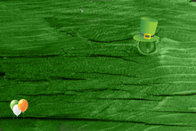 Green Wood Texture Background....