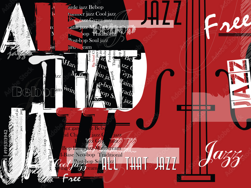 Festiwal muzyki jazzowej, szablon tło plakat. <span>plik: #195313942 | autor: Yevhen</span>