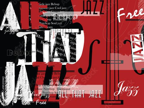 Festiwal muzyki jazzowej, szablon tło plakat.