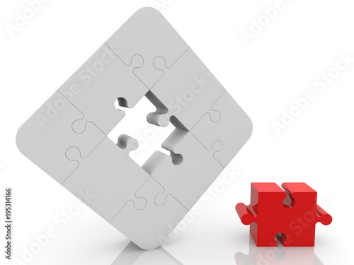 Composition of puzzle pieces © Footage Video
