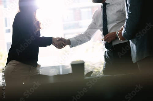 Fotografía  Business associates shaking hands after a deal