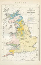 Vintage Map Of Great Britain - Early 1800 Antique Maps Of The World