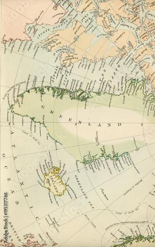 antyczna-mapa-bieguna-polnocnego-wczesne-1800-starych-map-swiata