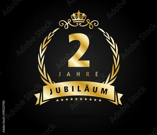 2 Jubilaeum laurel gold Fotomurales