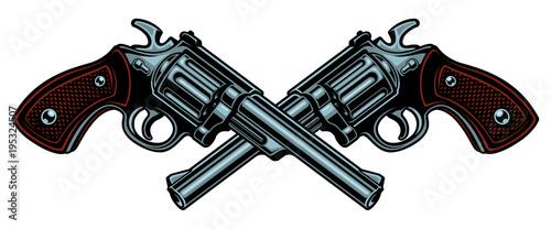 Photo Vector illustration with guns.
