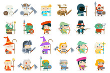 Set Fantasy Rpg Game Heroes Vi...