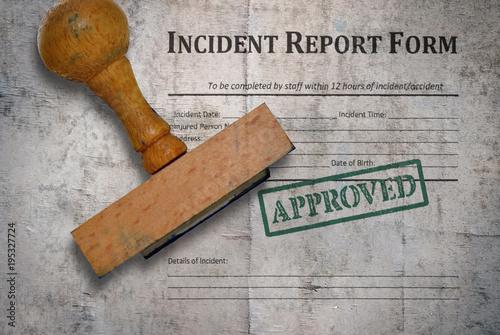Fototapeta Incident report form obraz