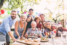 Family Celebration Or A Garden...