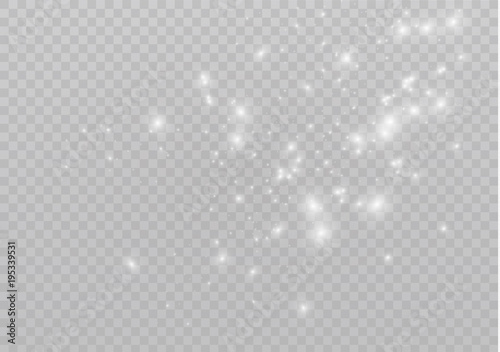 Fotografija White sparks and golden stars glitter special light effect