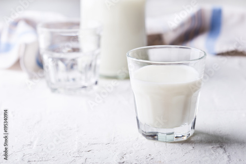 Poster Produit laitier Healthy dairy product. Organic milk