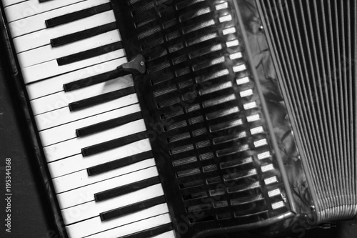 Fotografia, Obraz professional vintage accordion