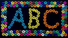Abc Print Created With Beads O...