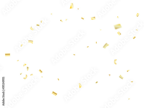 vector golden tinsel festival confetti birthday christmas new year party celebration firework decor