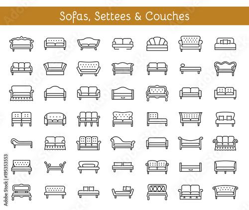 Sofas & Couches Fototapeta