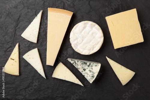 Obraz na plátně  Different sorts of cheese