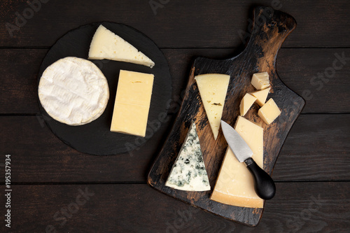 Fototapeta Different sorts of cheese