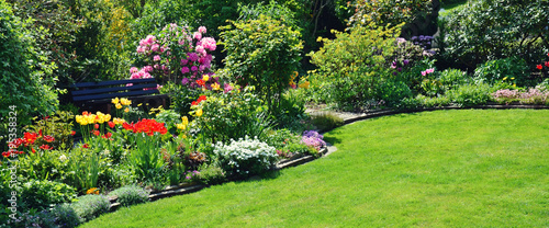 Papiers peints Jardin Gartenanlage Panorama Frühling